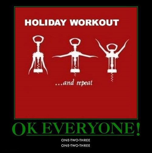 exercise wine funny holidays