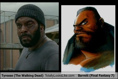 barret final fantasy totally looks like tyreese - 7901275648