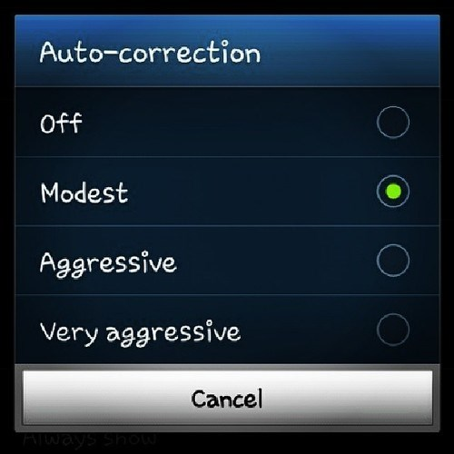 autocorrect,options