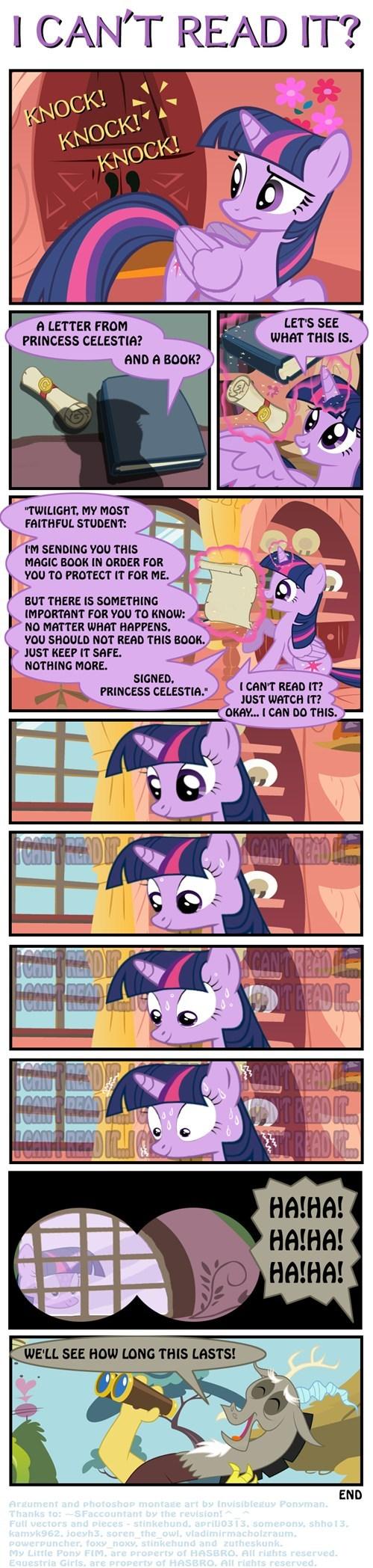 books,discord,Fan Art,twilight sparkle,don't read