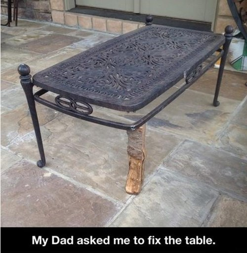 dads tables wood there I fixed it - 7901333760