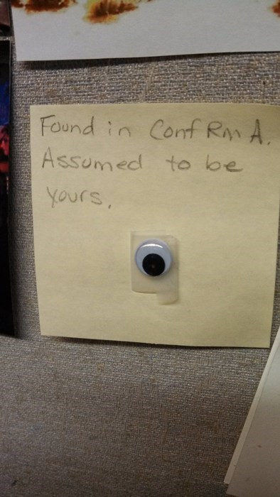 office pranks googly eyes