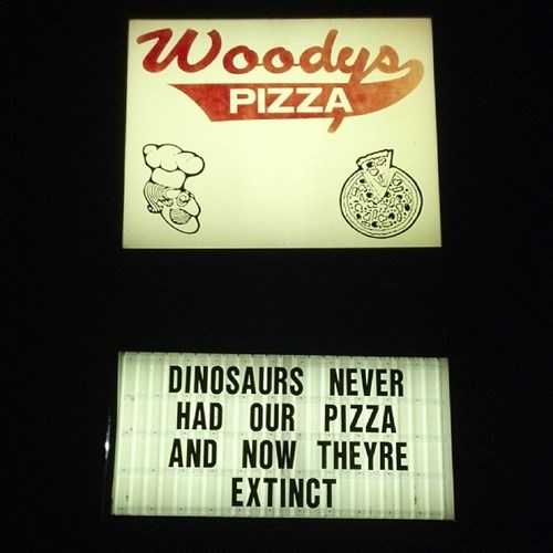 logic,dinosaurs,pizza