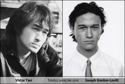 Joseph Gordon-Levitt,totally looks like,viktor tsoi