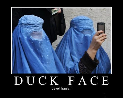 burka duck face funny iran - 7901834752