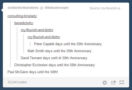50th anniversary,doctor who,count down
