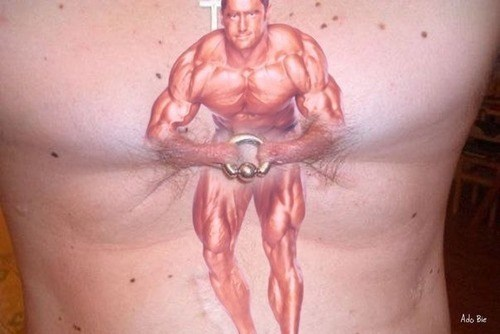 funny,weightlifting,wtf,tattoos