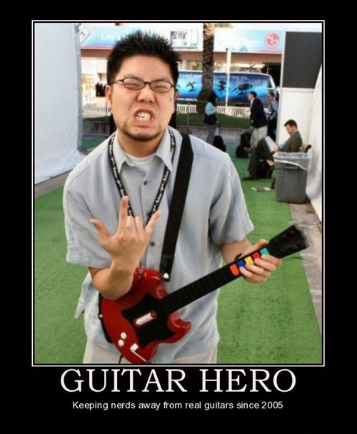 Guitar Hero nerds funny video games - 7902302720