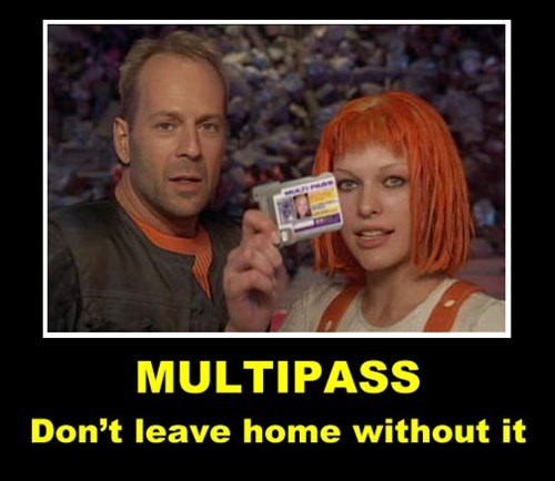 card fifth element funny multipass - 7902375680