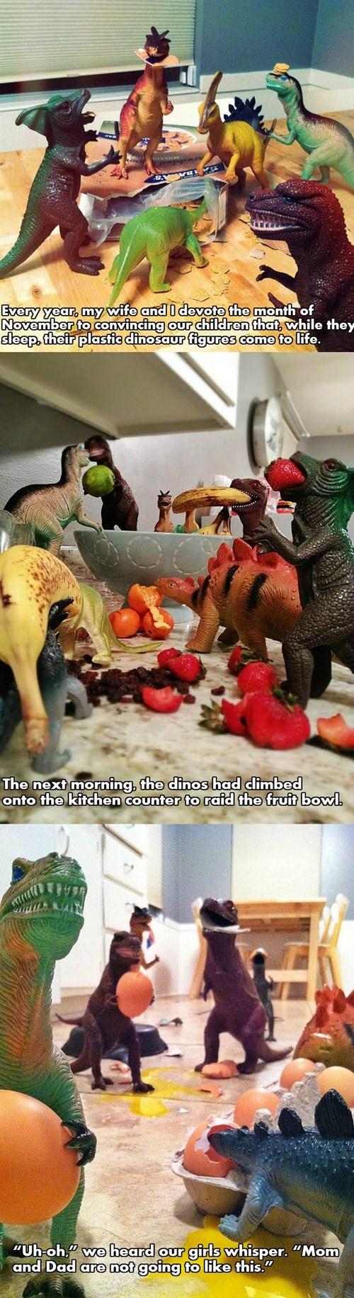 cute dinosaurs funny parenting prank - 7902381568