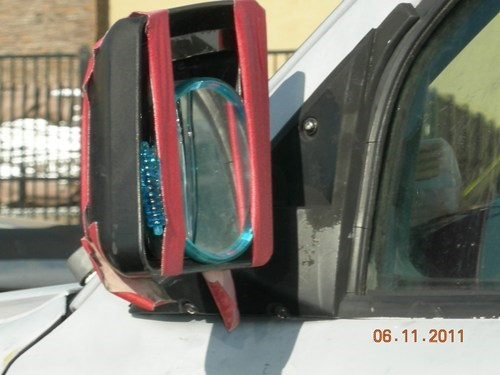 cars,duct tape,there I fixed it,side mirror