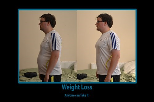funny idiots weight loss suck it in - 7902392832