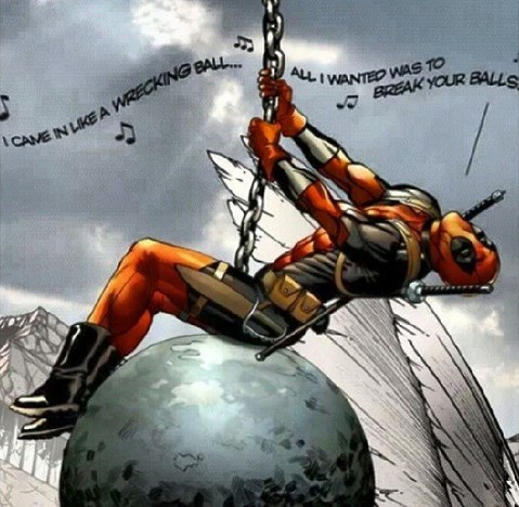 deadpool off the page wrecking ball - 7902514176