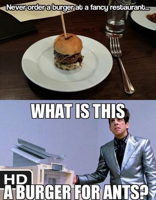 burgers food Memes zoolander - 7902540544