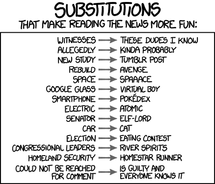Chart news xkcd web comics - 7902590208