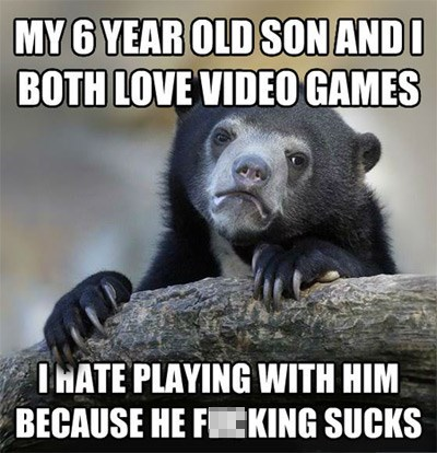 Confession Bear video games parents - 7902625792