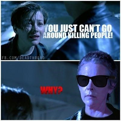 terminator 2 The Walking Dead carol peletier