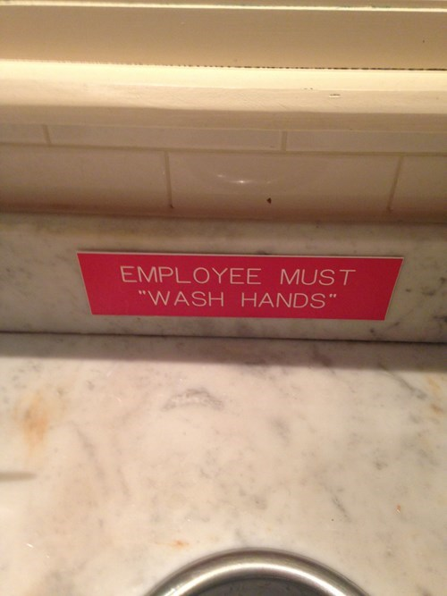 bathroom,funny,unnecessary quotations