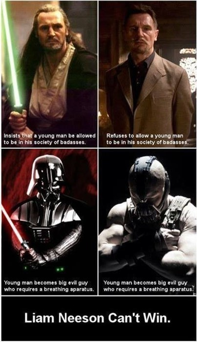 bane,darth vader,Dark Knight Rises,liam neeson,star wars
