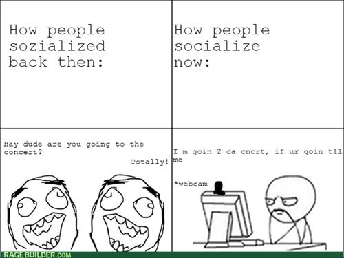 computer guy,socializing