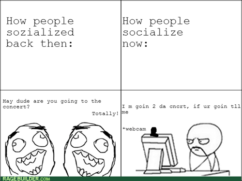 computer guy socializing - 7903602944