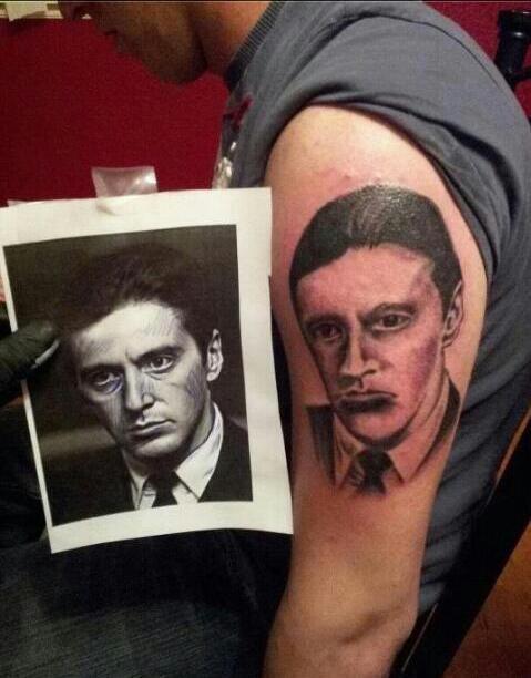 al pacino bad funny portraits tattoos - 7903744256