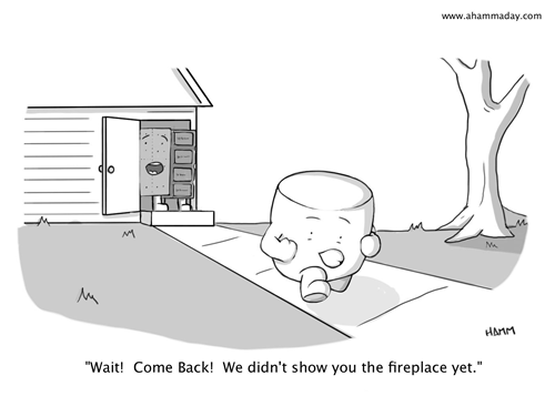 funny marshmallows smores web comics - 7903810560
