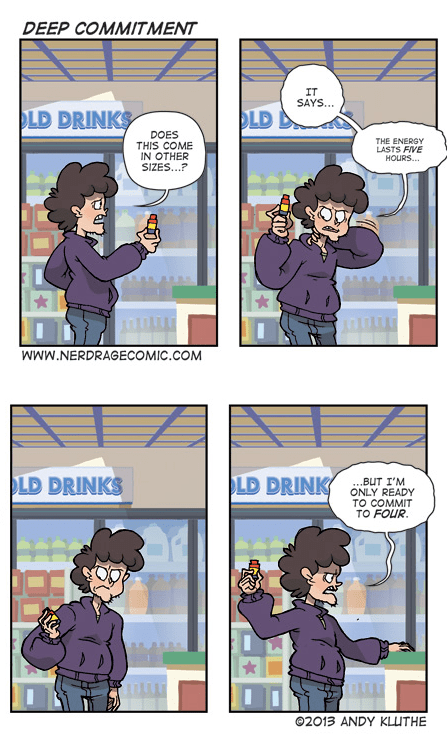 5-hour Energy,commitment,energy drinks,funny,web comics