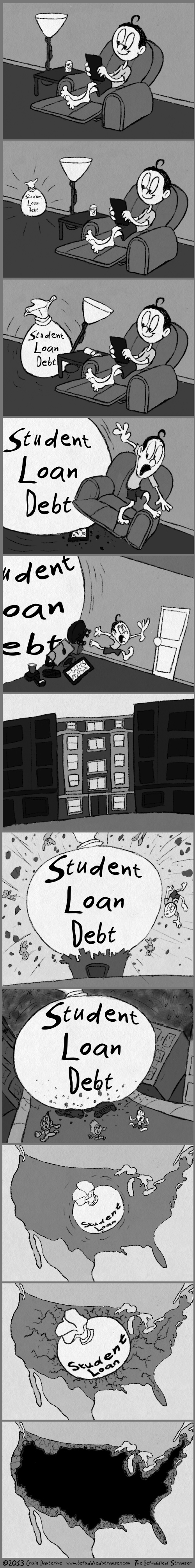 debt funny sad but true student loans web comics - 7903840768