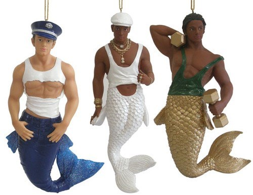 mermaids,mermen,wtf,Christmas ornaments