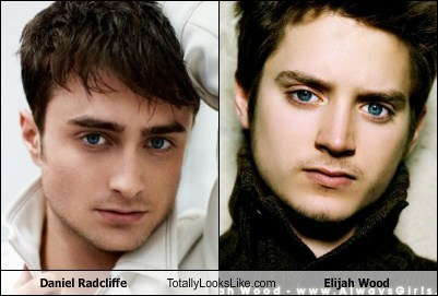 Daniel Radcliffe,totally looks like,elijah wood