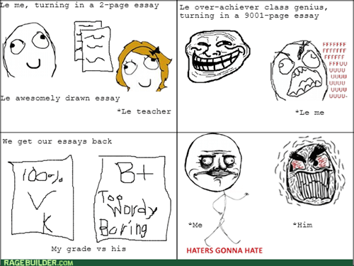 essays haters gonna hate me gusta overachievers - 7904236544