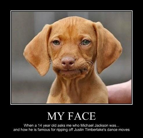 dogs face Justin Timberlake michael jackson - 7904297984