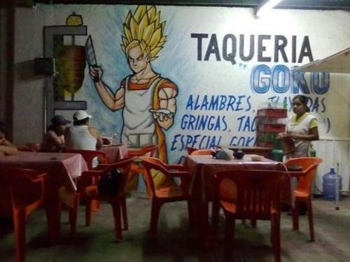 funny,goku,wtf,tacos