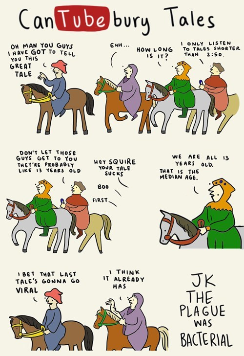 canterbury tales,chaucer,funny,youtube,web comics,ancient times