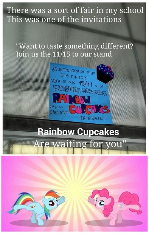 pinkie pie cupcakes rainbow dash - 7905576192