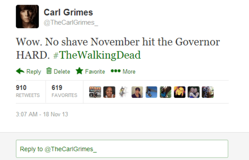 twitter carl grimes no shave november - 7905844224