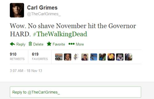 twitter,carl grimes,no shave november