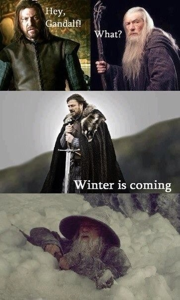 Eddard Stark,Game of Thrones,gandalf,Lord of the Rings