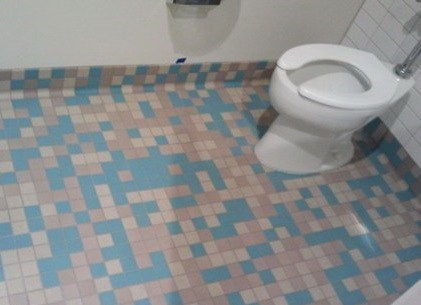 bathroom,video games,tile,space invaders