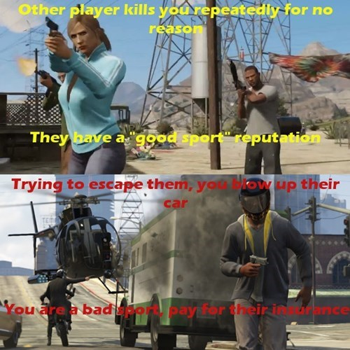 video game logic,Grand Theft Auto Online