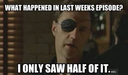 eyepatch,puns,the governor,The Walking Dead