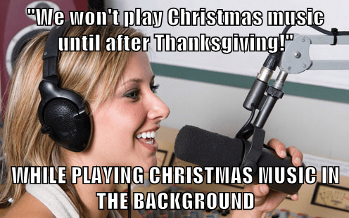 Music,radio,scumbags,christmas,thanksgiving