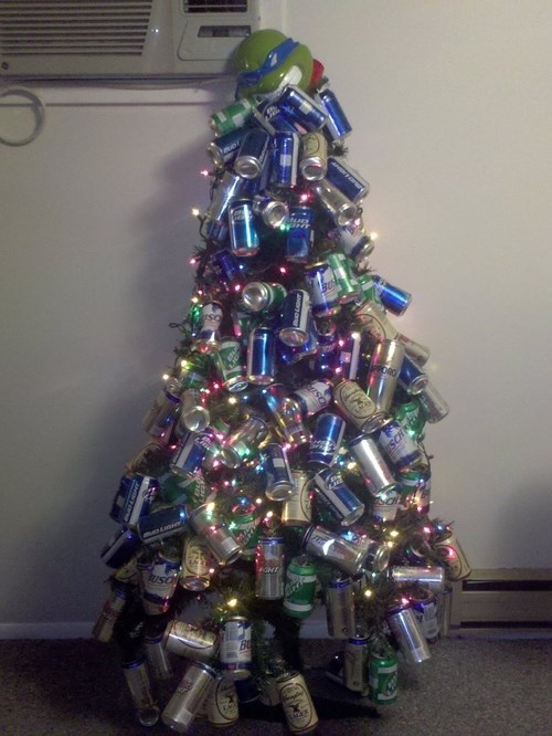 beer,christmas tree,funny,TMNT