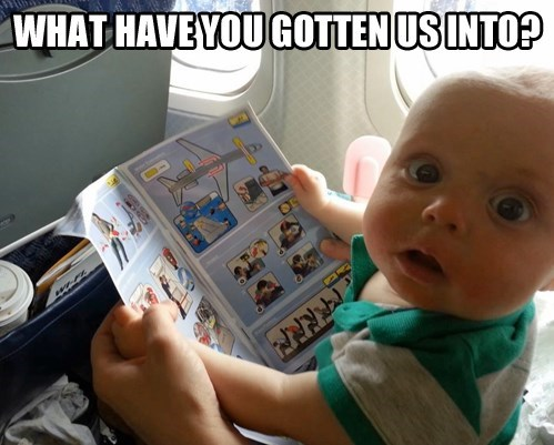 Babies scary airplanes