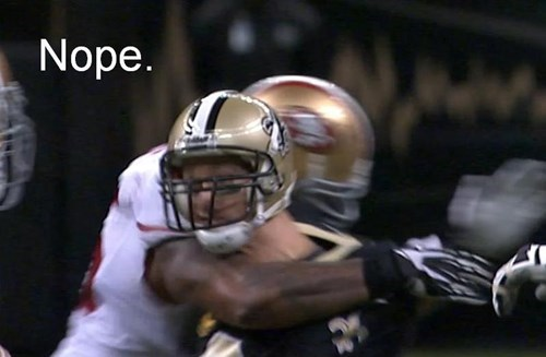 football drew brees nope New Orleans Saints - 7907063552