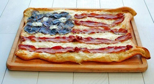 American Flag,food,freedom,pizza