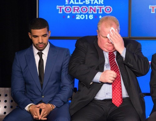 Drake,toronto,rob ford