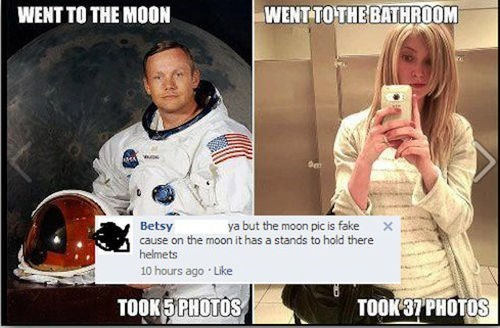 neil armstrong moon landing selfie - 7907146240