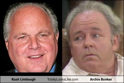 Rush Limbaugh archie bunker totally looks like funny - 7907297792